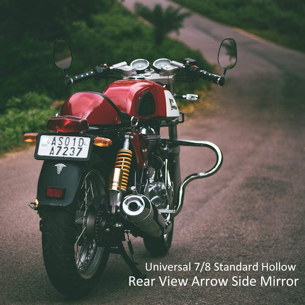Auzkong Universal Motorcycle Bar End Mirrors 7//8/'/' 22mm Rear View Side Mirrors for Most Motorcycle Scooter Dirt Street Bike Quad Cruiser ATV