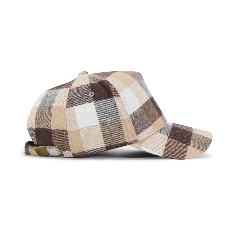 Soft Cotton Plaid Baseball Cap Men Women Bone Gorras Snapback Hat Autumn Winter Adjustable Caps