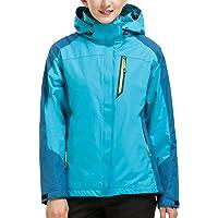 CIKRILAN Women's 3 in 1 Windproof Waterproof Breathable Coat Ladies Outdoor Sport Camping Jacket with Fleece Jacket