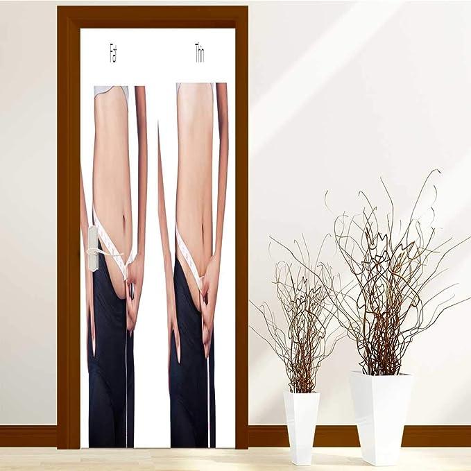 Amazon.com: SCOCICI1588 - Adhesivo decorativo para puerta ...