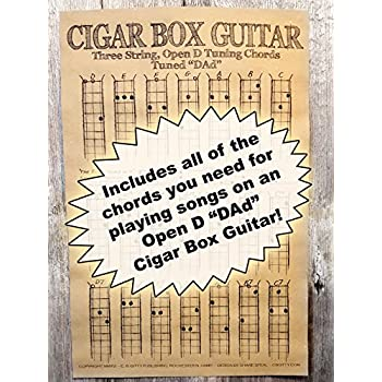 Amazon Chords Poster For 3 String Cigar Box Guitars All The