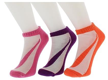Nike Logotipo Kids 3 Unidades no-Show Calcetines (Talla 13) c-3y ...