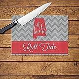 Personalized Glass Cutting Board (Red Alabama)