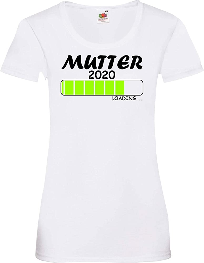 Shirtinstyle Camiseta de Mujer Tuerca Loading 2019 - Blanco, XS: Amazon.es: Ropa y accesorios