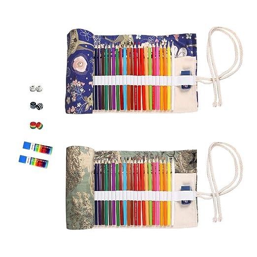 Amazon.com: 72 ranuras de lienzo para lápices de colores ...