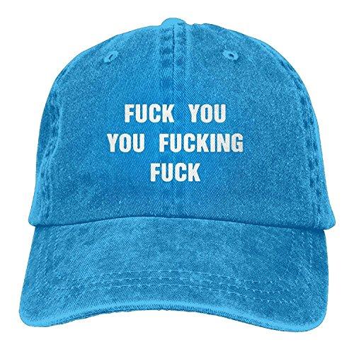 hongwenjy Adult Fuck You You Fucking Fuck Cotton Denim Baseball Hat ()