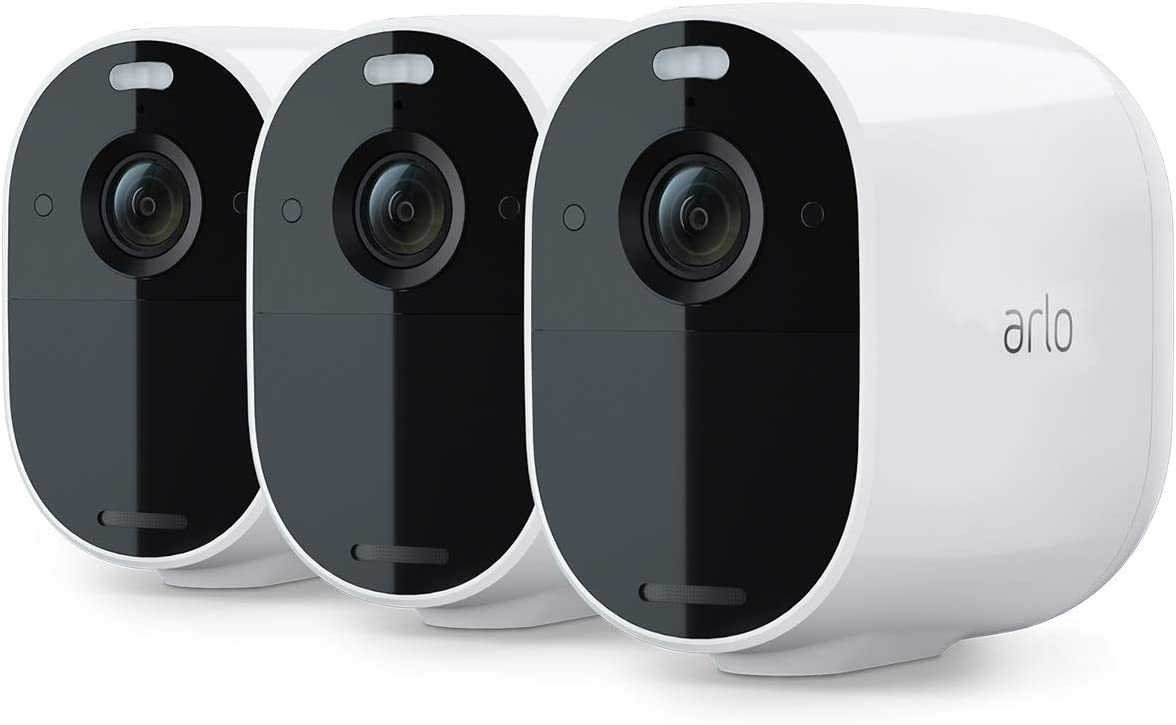 Arlo Essential Spotlight CCTV 3 Camera System | Wireless WiFi, 1080p Video, Color Night Vision, 2-Way Audio, 6-Month Battery Life, Motion Activated, Direct to WiFi, No Hub Needed, VMC2330: Amazon.es: Bricolaje y