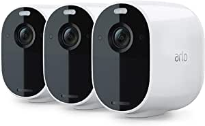 Arlo Essential Spotlight CCTV 3 Camera System | Wireless WiFi, 1080p Video, Color Night Vision, 2-Way Audio, 6-Month Battery Life, Motion Activated, Direct to WiFi, No Hub Needed, VMC2330