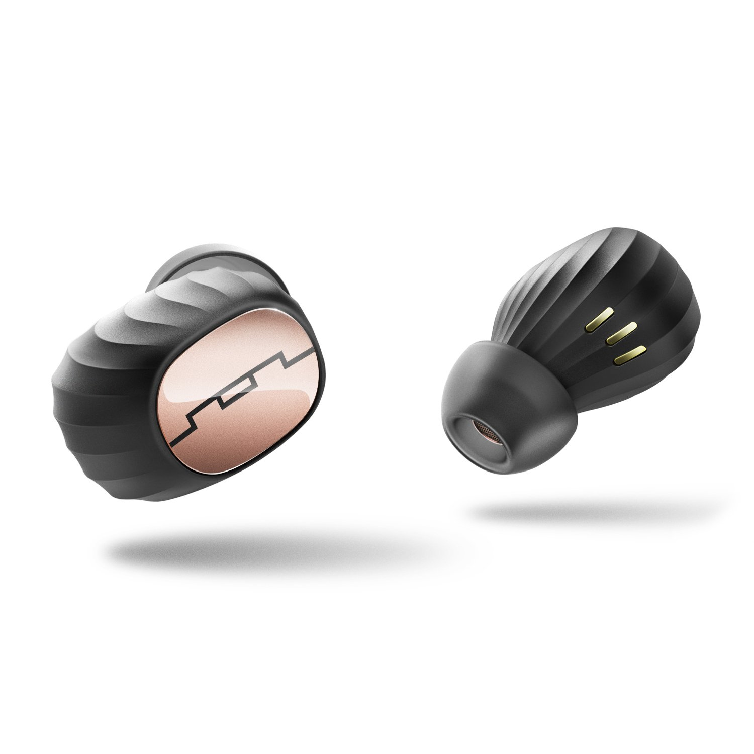 SOL REPUBLIC SOL-EP1190GD Amps Air Totally Wireless Bluetooth Earbuds – Premium Sound and Sweat Resistant for Sports. Siri compatitble, Gold/Black by SOL REPUBLIC