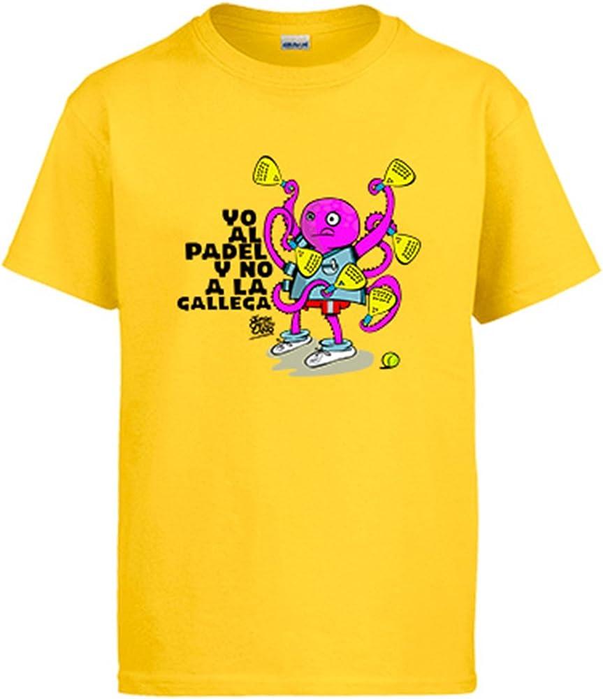 Diver Camisetas Camiseta yo al Padel y no a la gallega - Amarillo ...