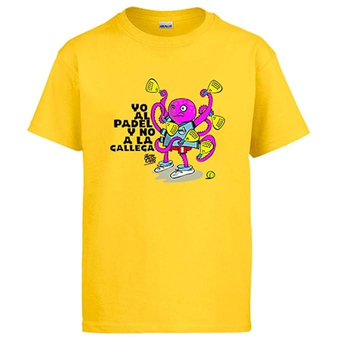 Diver Camisetas Camiseta yo al Padel y no a la gallega: Amazon.es: Ropa y accesorios