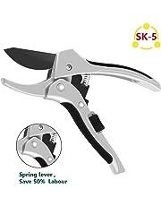 TOMORAL 2019 Upgraded Design 8 inch Professional SK-5 Steel Blade Sharp Pruning Shears Secateurs Hand Pruners Garden Clippers,Less Effort …