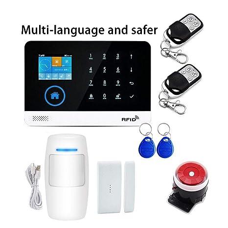 martialart Alarma de Seguridad gsm para teléfono móvil con ...
