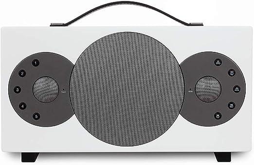Tibo - Altavoz portátil Bluetooth y WiFi para iOS y Android, Color Blanco