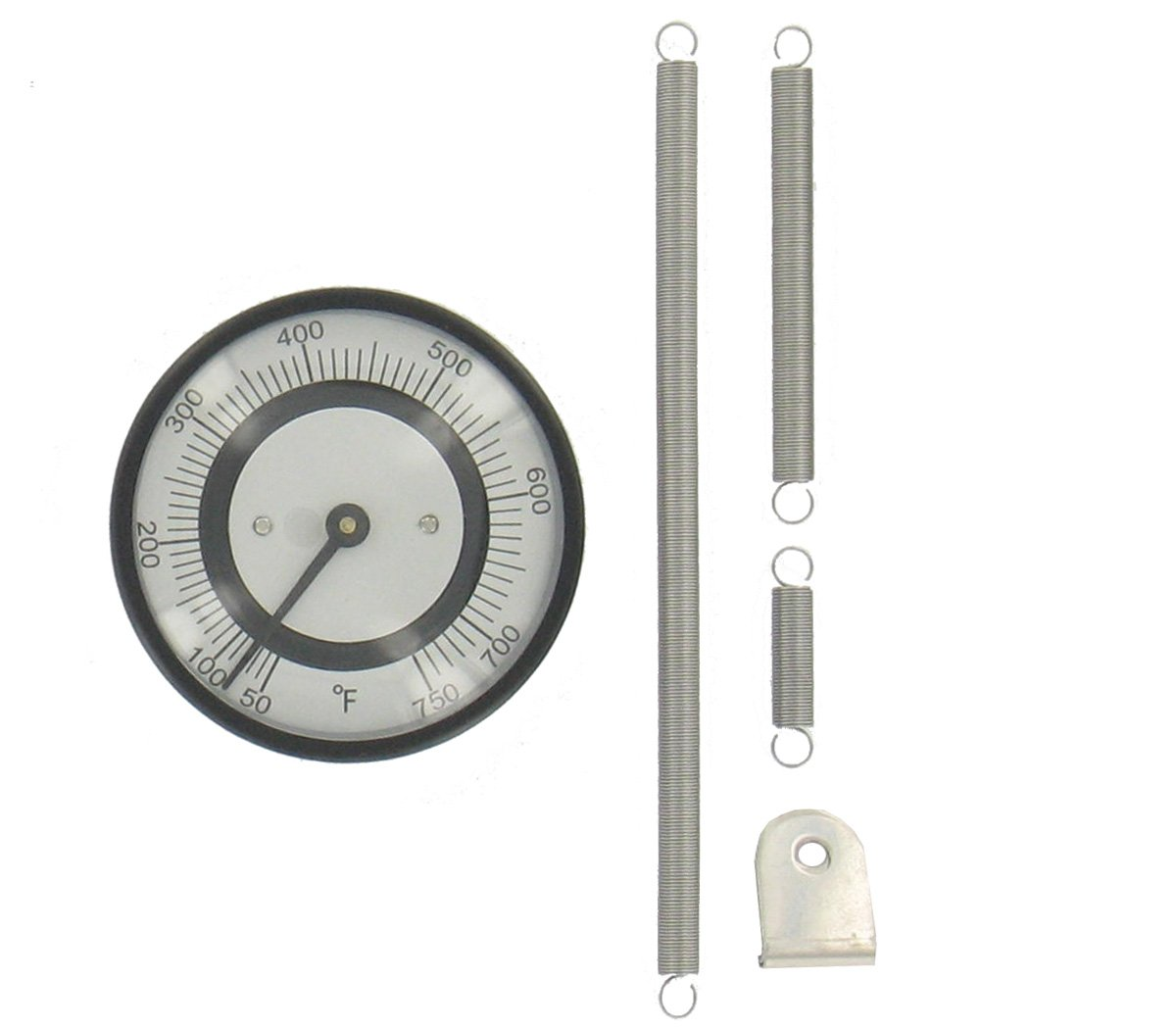 Dwyer® Pipe-Mount Bimetal Surface Thermometer, BTP272, 20-260°F
