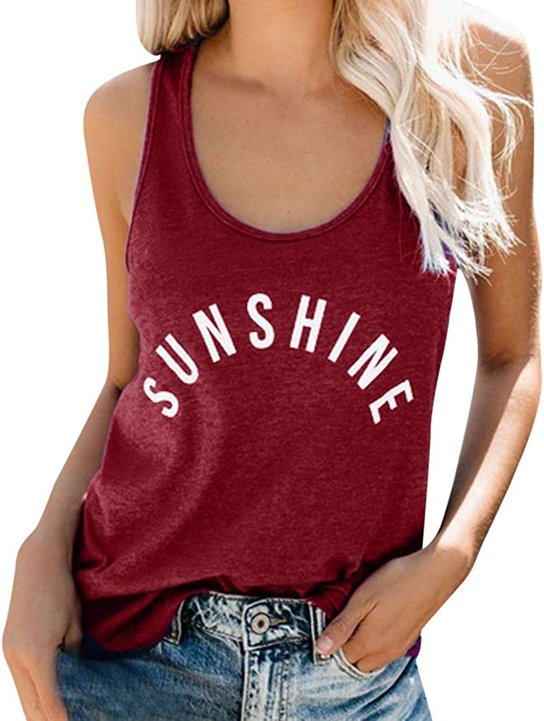 Women Fashion Casual O-Neck Loose T-Shirts Tops Soft Cotton Blouse Summer Tank Tops