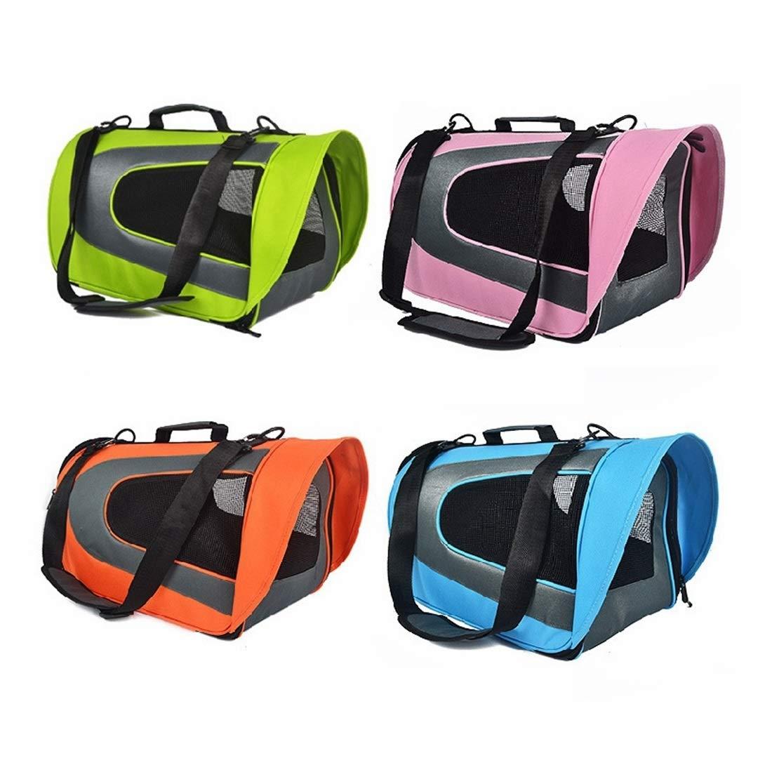 orange 45X28X23cm orange 45X28X23cm YY4 Pet Bag Out-of-Port Portable Dog Backpack One-Shoulder Messenger Bag Breathable Travel Dog Cat Bag (color   orange, Size   45X28X23cm)