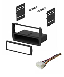 ASC Audio Car Stereo Dash Kit and Wire Harness for installing an Aftermarket Single Din Radio for 2001 2002 2003 2004 2005 Honda Civic (excludes SI and SE models)