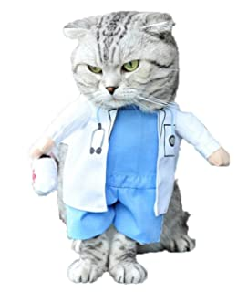 9b40c8a58b68f Mikayoo Pet Dog Cat Halloween Costume Doctor Nurse Costume Dog Jeans Clothes  Cat Funny Apperal Outfit