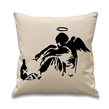 Amazon.com: Tribal T-Shirts Banksy Fallen Angel – 18