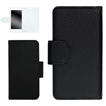 9dea1046b1 whitenuts iPhoneSE ケース 手帳型 レザー風 【左利き】 05 ブラック スマホケース 手帳 WN-