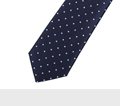 DW&HX Hombres lunares corbata, Corbata azul Acabado de seda ...