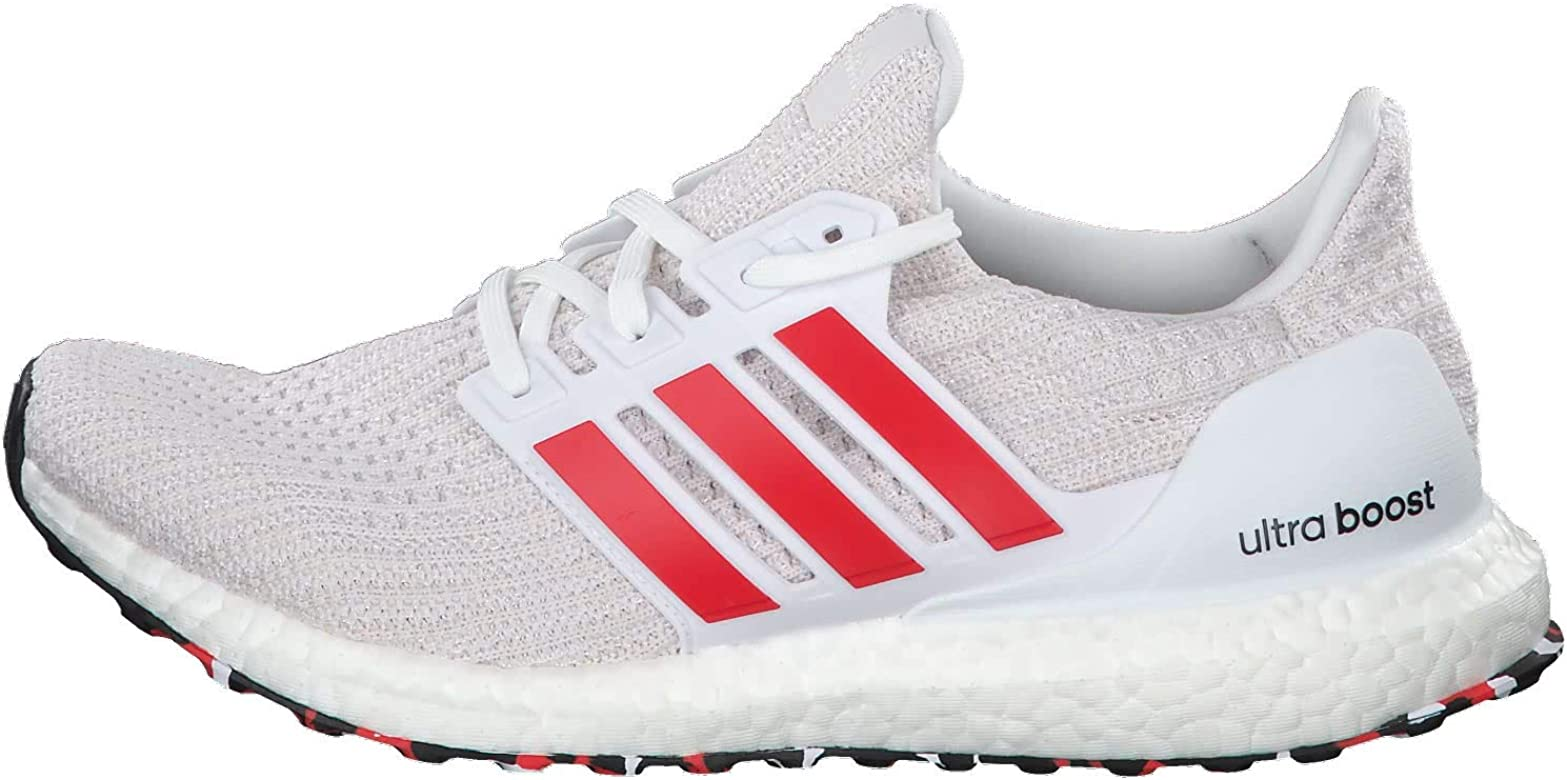 Adidas Ultraboost, Zapatillas de Running para Hombre, Blanco (FTWR White/Active Red/Chalk White FTWR White/Active Red/Chalk White), 41 1/3 EU: Amazon.es: Zapatos y complementos