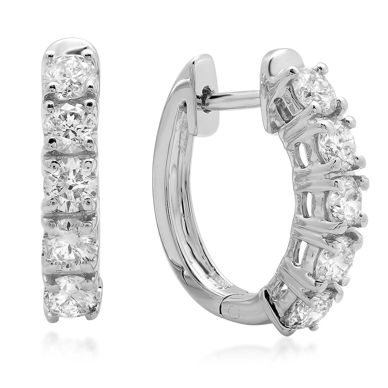 Amazon 1 00 Carat ctw 14K White Gold Round White Diamond