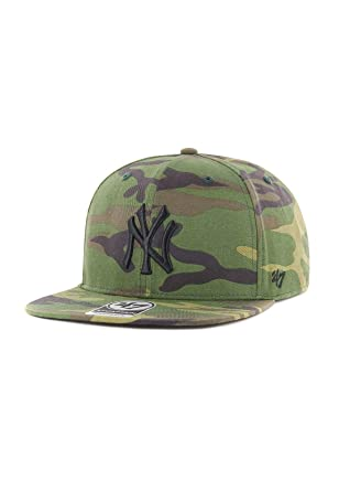 47_brand Gorra MLB New York Yankees Captain Snapback Verde/marrón ...