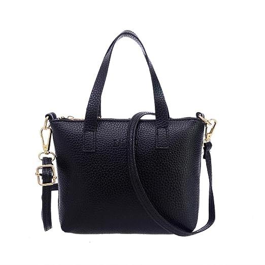 8f6fab3dba82 Amazon.com: Clearance! Women Fashion PU Leather Small Tote Handbag ...