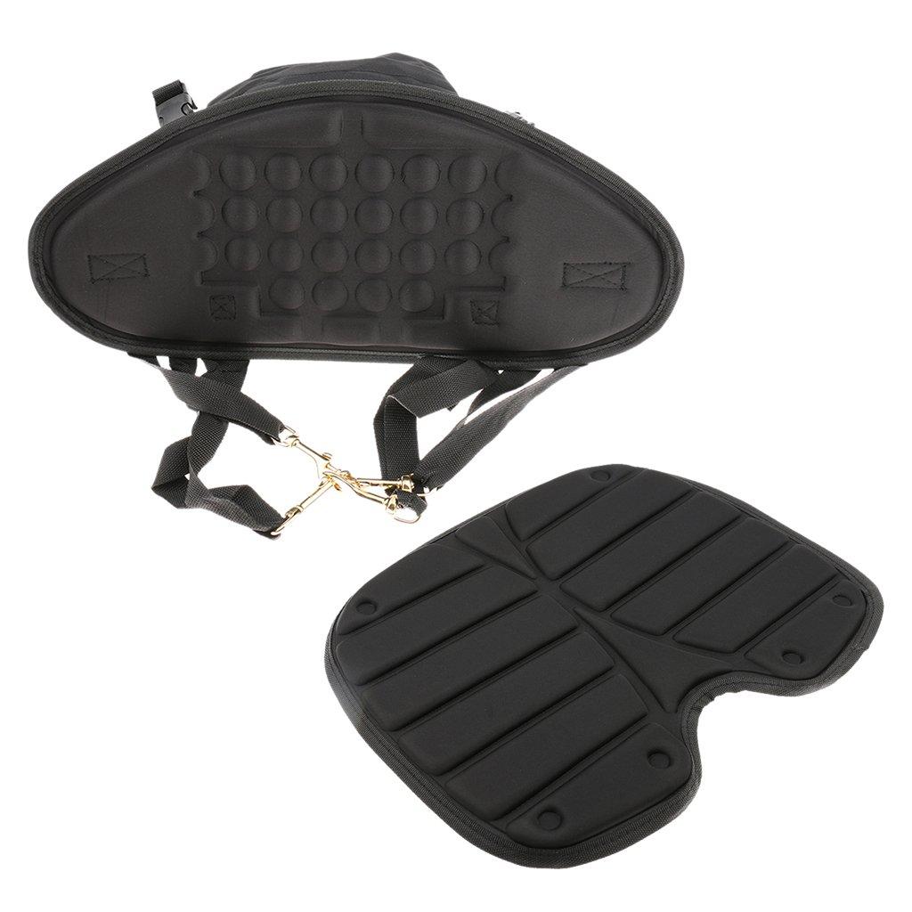MagiDeal Black Comfortバックカバン付きカヤックカヌーボートシートバックレスト   B01JUJDD0K