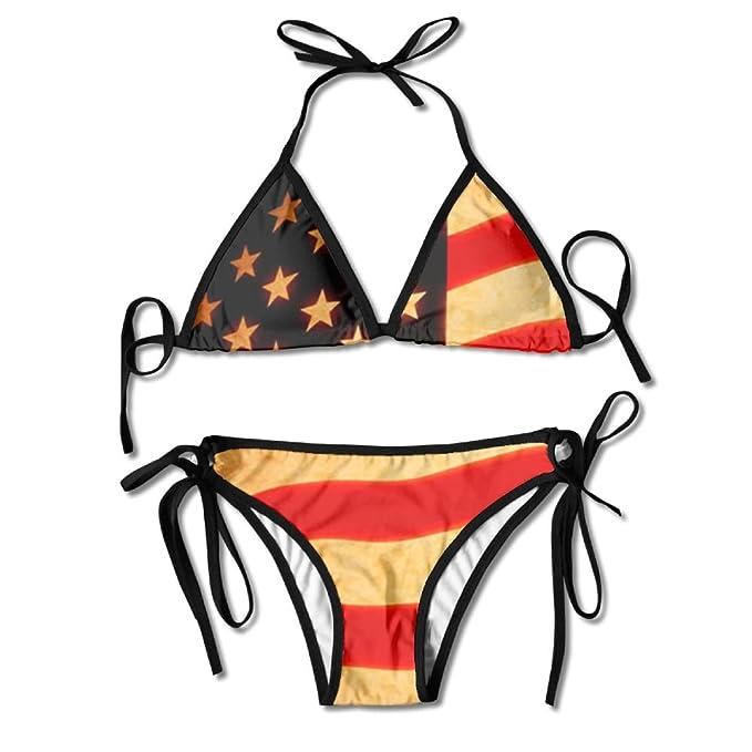 Amazon.com: pin-1 Pin Vintage bandera americana bañadores ...