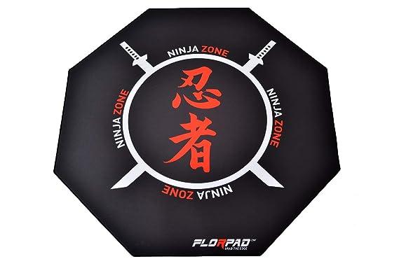 Florpad - Ninja - Tapete Protector para el Piso y la Alfombra de la Silla de Juego para el Escritorio en el hogar - Resistente al Agua - Apto para ...