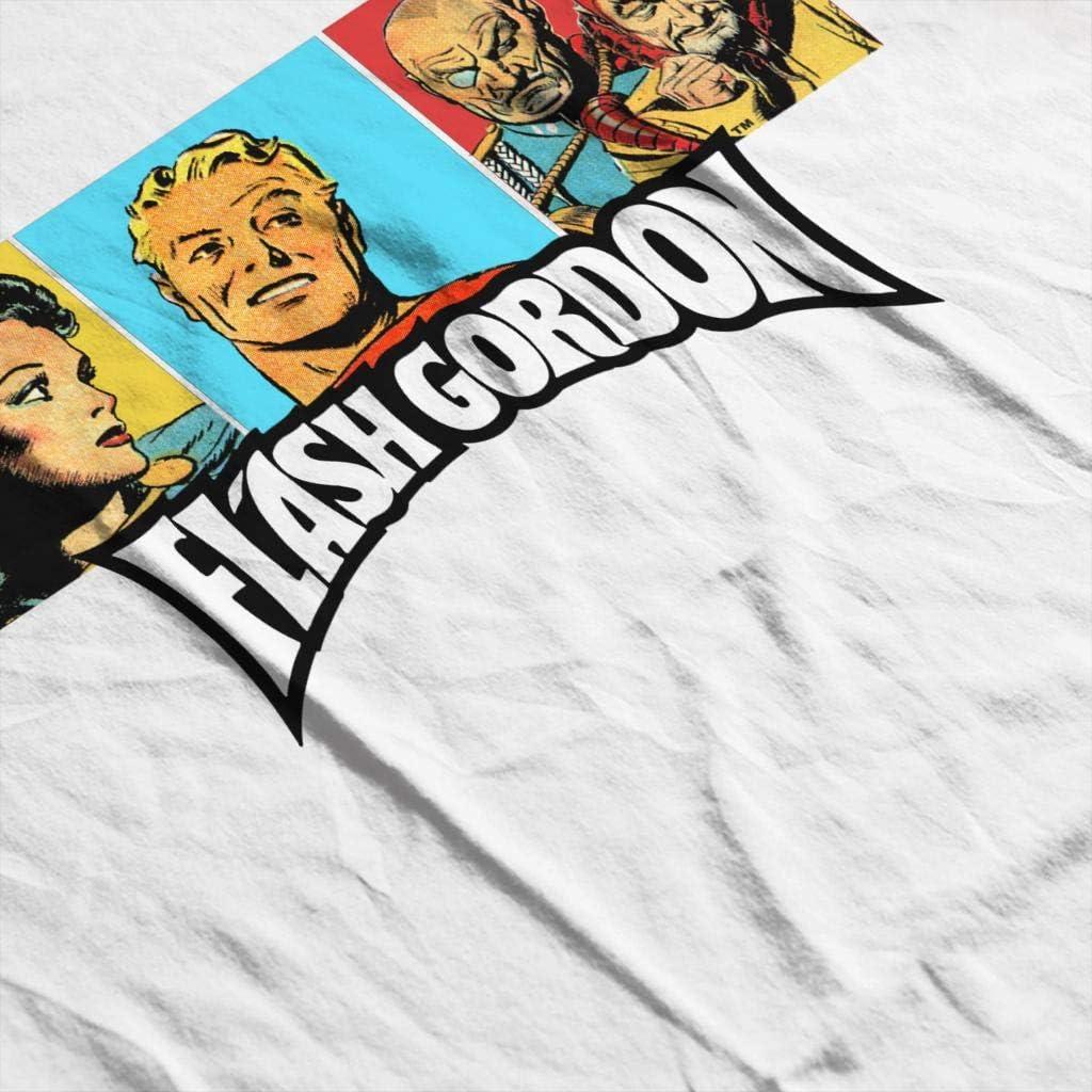 Flash Gordon Trio Portrait Logo Mens Hooded Sweatshirt