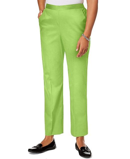 62be8b4beba4b Alfred Dunner Women s in The Limelight Pull-On Straight-Leg Pants (Key Lime