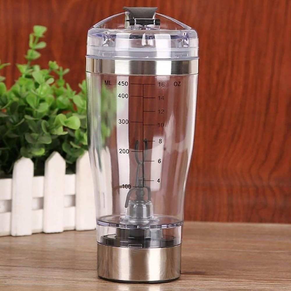 Electric Shaker Blender Water Bottle Automatic Vortex 450ml Detachable Mixer Cup by Mmrm (Image #3)