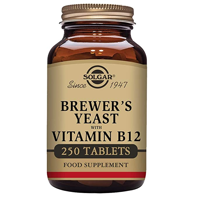 Solgar Levadura de Cerveza con Vitamina B12 Comprimidos - Envase de 250: Amazon.es: Salud y cuidado personal