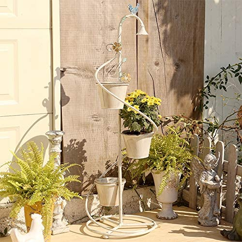 スパイラルメタルプラントホルダーフラワースタンド - 階層フラワーホルダーフラワーディスプレイ - 花飾りスタンドヴァインフラワーポットは、装飾的なスタンドをスタンド、屋内アウトドア