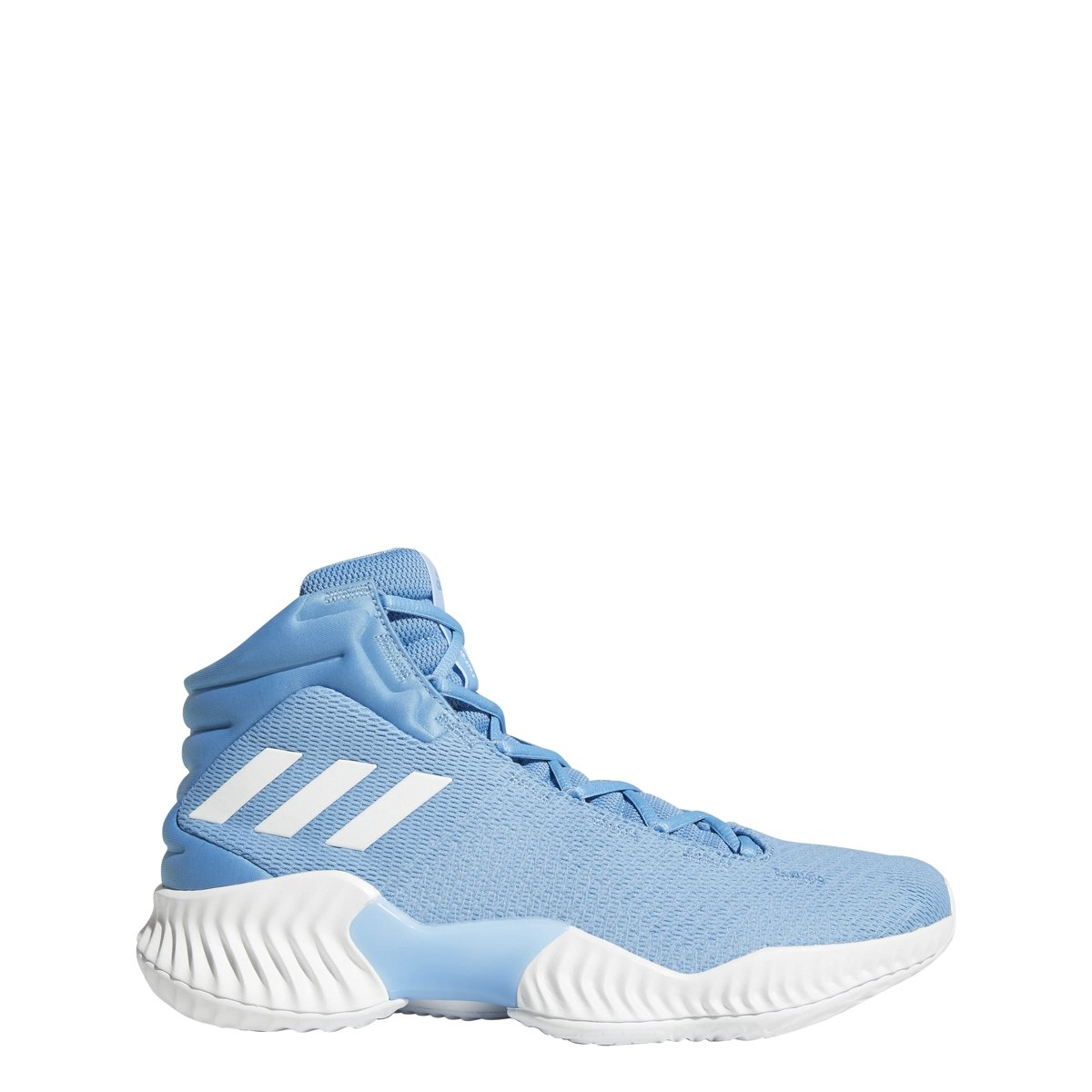 adidas Men's Pro Bounce 2018 Basketball Shoe, White/Light Blue, 4 M US
