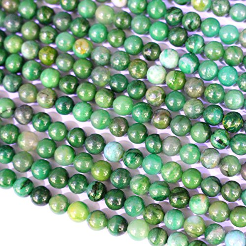 Natural Genuine Green Jade Round 6mm Real Gemstone Loose Beads Findings for Jewelry Making