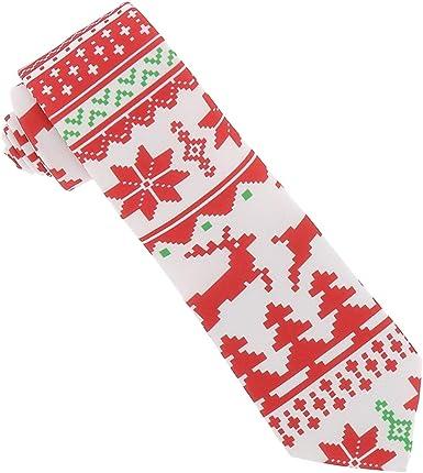 Corbata de Navidad Jacquard - Corbata Reno de Navidad, Arbol de ...