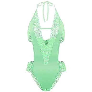 d9e3f7601a ADOME sous-vêtement Body Érotique Femme en Dentelle Dos Nu Vert XXL:  Amazon.fr: Vêtements et accessoires