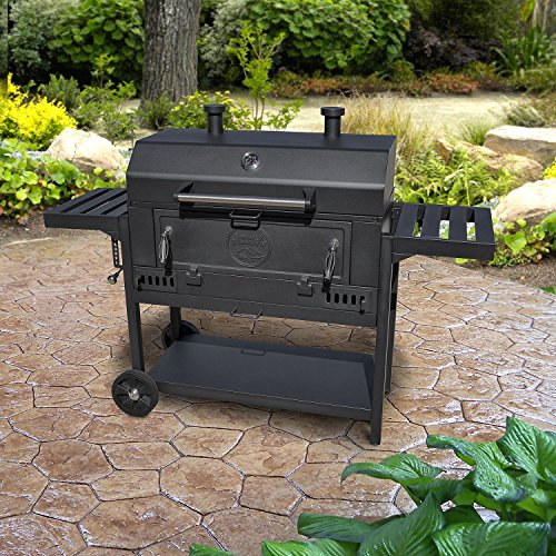 Pro Series Heavy-Duty 36'' Charcoal Wagon BBQ Grill by Smoke Hollow