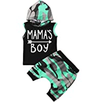 FRLYBABY Baby Boys Girls Cute Hooded Outfits Newborn Infant Long Sleeve Hooded Sweatshirt + Pants Set Warm Clothes