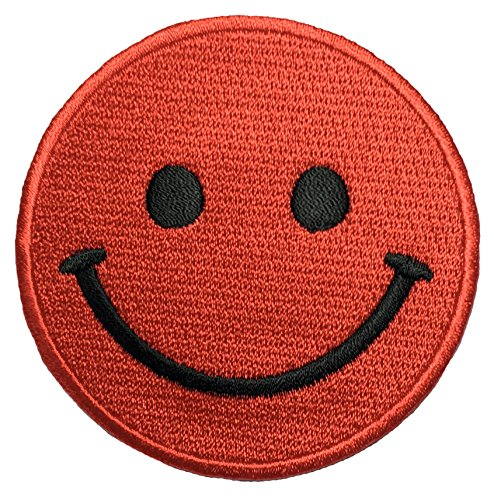 Papapatch Smiley Happy Face Smile Fun Logo Hippie Retro Jacket T-shirt Costume DIY Applique Embroidered Sew Iron on Patch - Red (Red Riding Hood Diy Costume)