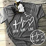 Usaboutall Faith Hope Love Street Fashion Loose Top T-Shirt❤❤❤