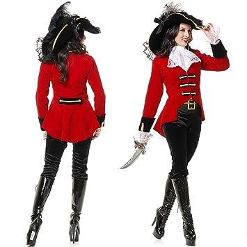 GYH Mujer Bucanero Pirata Traje Pícaro para Halloween Carnaval ...