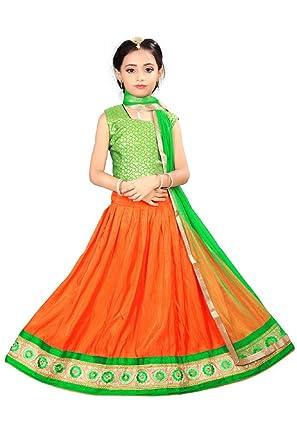 6fbcbf338 Arrow Fashion Baby Girl Cotton Silk Lehenga Choli  Amazon.in ...