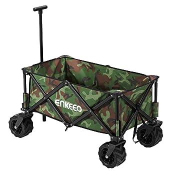 Enkeeo - Carro Plegable, Carro de Transporte 95x 55x 95cm, Carrito Deportivo Plegable con
