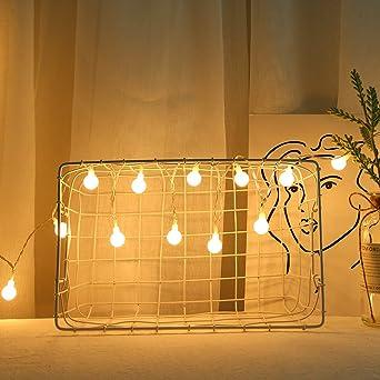 Cadena de luz LED, 4,2 metros, 40 LED, luces románticas, para Navidad, bodas, fiestas, exteriores, dormitorio, jardín con control remoto: Amazon.es: Iluminación